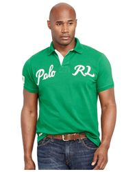 Polo Ralph Lauren | Green Big And Tall Classic-fit Varsity Mesh Polo Shirt for Men | Lyst