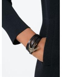 McQ Black Swallow Triple Wrap Bracelet