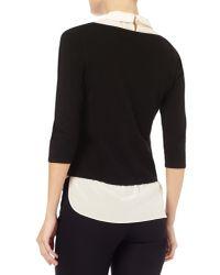 Phase Eight Black Suzetta Silk Knit Top