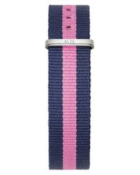 Daniel Wellington | Pink 0952dw Women's Winchester Classy Canvas Strap Watch | Lyst