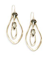 Alexis Bittar | Metallic Miss Havisham Orbiting Aura White Quartz & Pyrite Doublet Drop Earrings | Lyst
