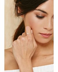 Forever 21 - Metallic Cool And Interesting T Initial Ring - Lyst