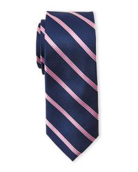 Pierre Cardin | Blue Silk Stripe Slim Tie for Men | Lyst