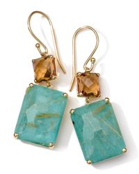 Ippolita | Green 18k Gold Rock Candy Gelato Rectangle Snowman Earrings | Lyst