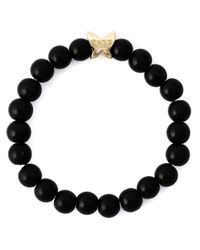 Fefe | Black Stone Bead Bracelet for Men | Lyst