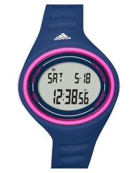 Adidas - Blue 'adizero Basic Mid' Digital Watch - Lyst