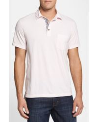 Tailor Vintage | Pink Regular Fit Pique Stretch Cotton Polo for Men | Lyst