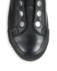 Ash - Black Vespa Leather & Snaps High-Top Sneaker - Lyst