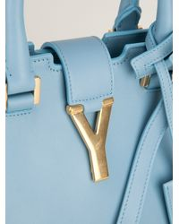 Saint Laurent Blue Y Cabas Bag