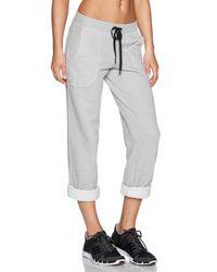 Trina Turk Gray Cropped Jersey Sweatpants