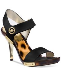Michael Kors | Black Michael Lani Platform Sandals | Lyst