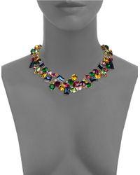 R.j. Graziano | Multicolor Multi-colored Crystal Collar Necklace | Lyst