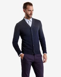 Ted Baker | Gray Sprayed Ombré Cardigan for Men | Lyst