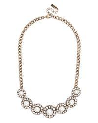 BaubleBar | White Pearl Halo Collar | Lyst