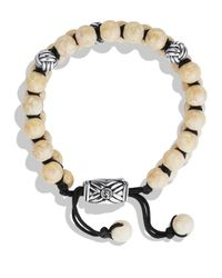 David Yurman Natural Spiritual Beads Two-Row Bracelet With River Stone for men
