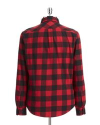 Original Penguin | Red Buffalo Check Flannel Shirt for Men | Lyst