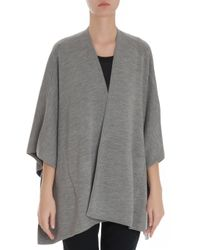 Vince - Gray Cape Wool Cardigan - Lyst