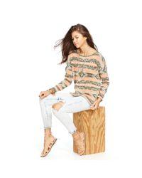 Denim & Supply Ralph Lauren Orange Southwestern Cotton Sweater