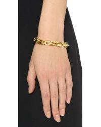 Eddie Borgo - Metallic Small Link Bracelet - Gold - Lyst
