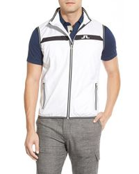 J.Lindeberg | White 'windpro' Zip Front Vest for Men | Lyst