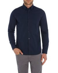 SELECTED - Blue Slim One Travis Dublin Shirt for Men - Lyst