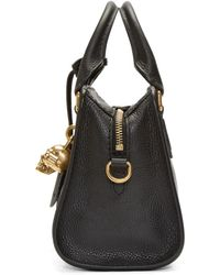 Alexander McQueen Black Leather Mini Padlock Bag