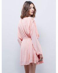Free People - Pink Marrakesh Dress - Lyst