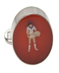 Paul Smith - Red Tennis Figure Cufflink for Men - Lyst