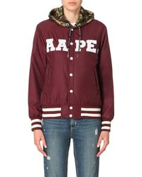 Aape - Purple Reversible Varsity Jacket, Women's, Size: Xl, Burg - Lyst
