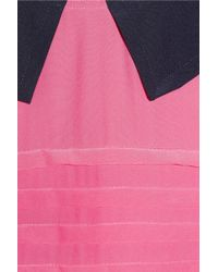 Marc By Marc Jacobs Pink Bowery Collar appliquéd Silk Crepe De Chine Dress