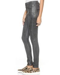 Citizens of Humanity - Gray Rocket Coated Skinny Jeans - Refracted - Lyst