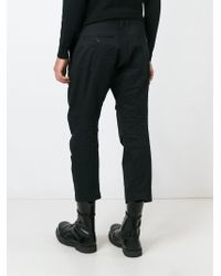DSquared² Black Cropped Trousers for men