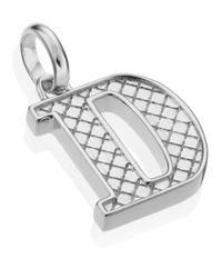 Monica Vinader | Metallic Silver Alphabet Pendant D | Lyst