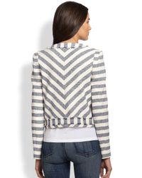Rebecca Minkoff   Gray Salinas Ocean Stripe Jacket   Lyst