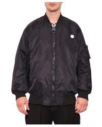 KTZ - Black Square Logo Nylon Bomber Jacket for Men - Lyst