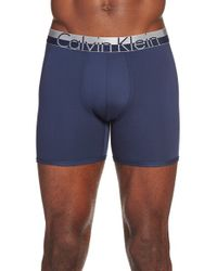 Calvin Klein | Blue 'magnetic Force' Microfiber Boxer Briefs for Men | Lyst