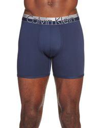Calvin Klein | Blue 'magnetic Force' Microfiber Boxer Briefs for Men | Lyst