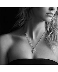 David Yurman - Metallic Venetian Quatrefoil Pendant Necklace With Diamonds In Gold - Lyst