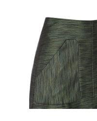 Paul Smith | Women's Green Textured Cotton-blend Skirt | Lyst