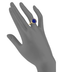 Marc By Marc Jacobs | Blue Logo Disc-o Ring | Lyst