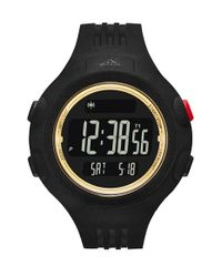 Adidas Originals Black 'questra Xl' Rubber Strap Watch for men