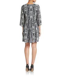 Essentiel | Black Printed Shift Dress | Lyst
