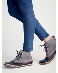 Free People | Gray Out N About Weather Boot | Lyst