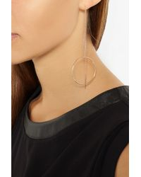 Maria Black - Metallic Monocle Rose Gold-Plated Earrings - Lyst