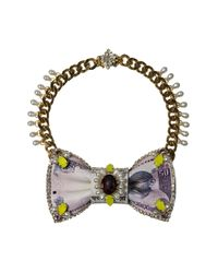 Bijoux De Famille | Purple Colaba Bow Necklace | Lyst