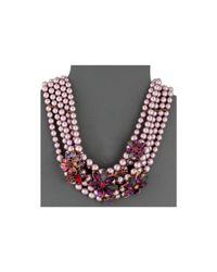 Betsey Johnson - Multicolor Fall Follies Pearl Bib Necklace - Lyst