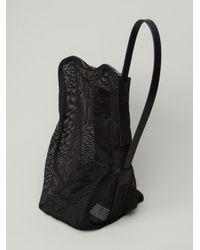 Lyst - DRKSHDW by Rick Owens Mesh Bucket Shoulder Bag in Black for Men 03de64b42028d