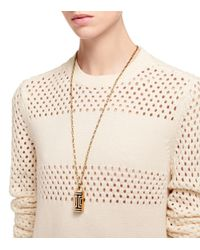 Tory Burch - Metallic For Fitbit Fret Pendant Necklace - Lyst