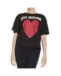 Love Moschino | Black T-shirt | Lyst