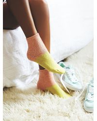 Free People - Orange Hansel From Basel Womens Juniper Colorblock Boot Sock - Lyst